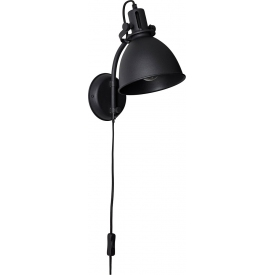 Designerski Okrągly stolik metalowy Ramme 43 Nordifra do salonu. Kolor czarny, stelaż/podstawa metalowa.