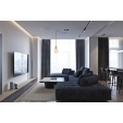 Designerski Fotel Barcelon Single D2.Design do salonu. Kolor czarny, biały, brązowy, czerwony, jasny brąz, Styl inspirowane.
