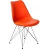 Nowoczesne Krzesło z poduszką Norden DSR Pomarańczowe Intesi do jadalni i salonu.