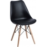 Norden DSW black scandinavian cushion chair Intesi