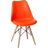 Norden DSW orange scandinavian cushion chair Intesi