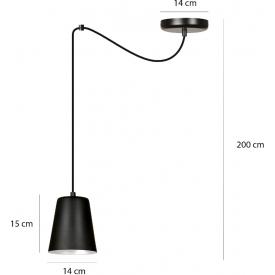 Druciana lampa podłogowa Carbony 50 Led Lucide