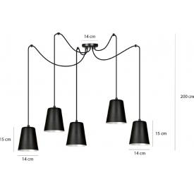 Lampa podłogowa druciana czarna Carbony 50 Led Lucide