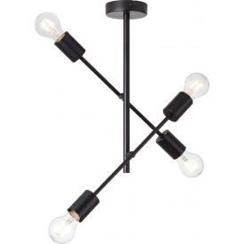 Stylowa Lampa sufitowa drewniana Aga 30 LED Tk Lighting do salonu. Kolor dąb, orzech, Styl skandynawski.