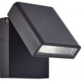 Elewacyjny Kinkiet zewnętrzny Toya LED Czarny Brilliant na taras i nad drzwi.