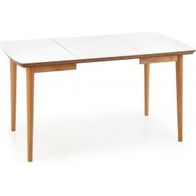 Stylowy Stół skandynawski rozkładany Bradley 140x80 Biały Halmar do jadalni, kuchni i salonu.