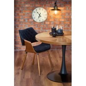 Tapicerowane krzesło Norden DSR Pik Intesi do jadalni. Kolor: szary, czarny, stelaż/podstawa metalowa. Styl inspirowane, 359,00