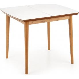 Stylowy Stół skandynawski rozkładany Barret 90x80 Biały Halmar do jadalni, kuchni i salonu.