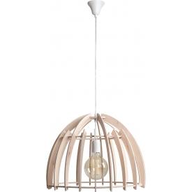 Skandynawska Lampa ze sklejki wisząca Forest 51 naturalna Aldex do kuchni, salonu i sypialni.