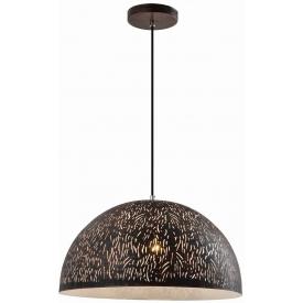 Stylowa Lampa wisząca ażurowa Asha 40 czarna Auhilon salonu i sypialni.