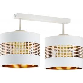 Stylowa Lampa sufitowa ażurowa Tago 45 biało-złota Tk Lighting do przedpokoju i kuchni.