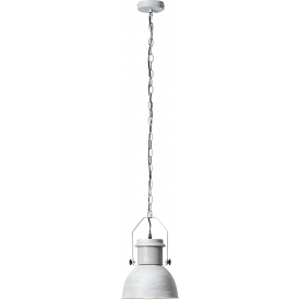 Lampa wisząca industrialna Salford 23 betonowa szara Brilliant do salonu, kuchni i sypialni.