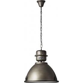 Lampa wisząca industrialna Kiki 48 czarna stal Brilliant do salonu, kuchni i sypialni.