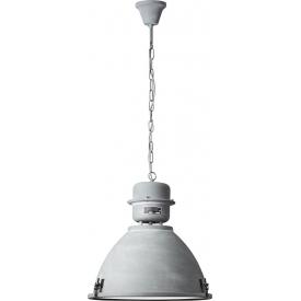 Lampa wisząca industrialna Kiki 48 betonowy szary Brilliant do salonu, kuchni i sypialni.