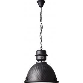 Lampa wisząca industrialna Kiki 48 czarny korund Brilliant do salonu, kuchni i sypialni.