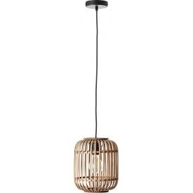 Dekoracyjna Lampa rattanowa wisząca boho Woodrow 21 Brilliant do salonu, kuchni i sypialni.