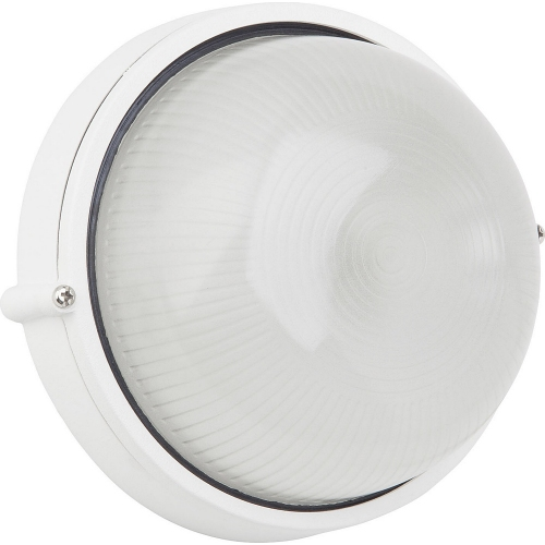 Silvester 18 white round outdoor wall lamp Brilliant