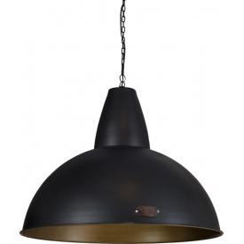 Lampa wisząca industrialna Salina 70 czarno-mosiężna LoftLight do salonu, kuchni i sypialni.