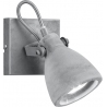 CONCRETE I grey concrete ceiling spotlight Trio