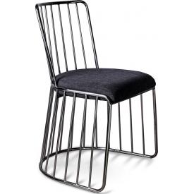Designerskie Krzesło druciane glamour Fiji czarne Gilli do kuchni, jadalni i gabinetu.