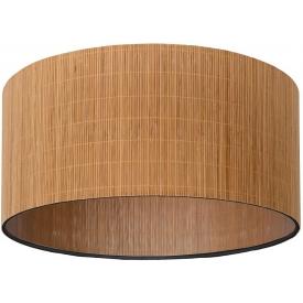 Stylowy Plafon rattanowy okrągły boho Magius 42 Lucide do kuchni, przedpokoju i sypialni.