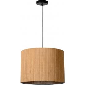Stylowa Lampa rattanowa wisząca boho Magius 42 Lucide do kuchni, jadalni i salonu.