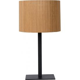 Dekoracyjna Lampa stołowa rattanowa boho Magius Lucide do salonu, przedpokoju lub sypialni.