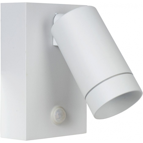 Taylor white outdoor wall lamp with sensor Lucide