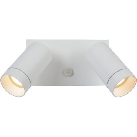 Taylor II white outdoor wall lamp with sensor Lucide