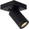 Taylor LED black bathroom ceiling spotlight Lucide