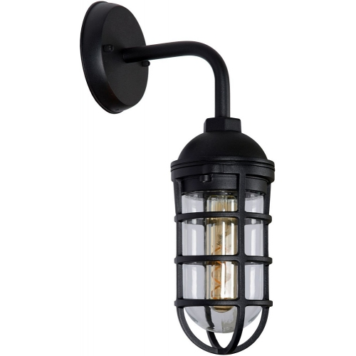 Limal black outdoor wall lamp Lucide