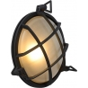 Dudley black round outdoor wall lamp Lucide