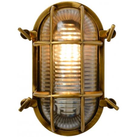 Dudley II brass outdoor wall lamp Lucide