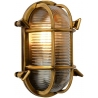Dudley II brass outdoor wall lamp Lucide