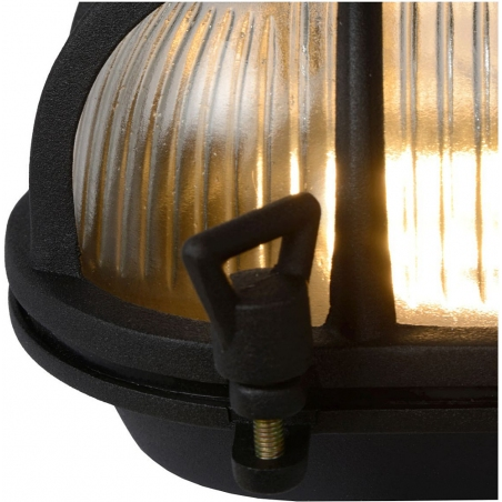 Dudley II black outdoor wall lamp Lucide