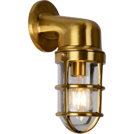 Dudley brass outdoor wall lamp Lucide