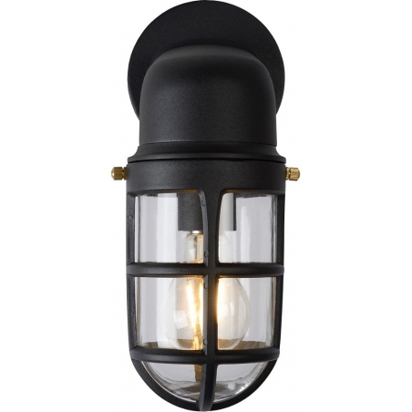 Dudley black outdoor wall lamp Lucide