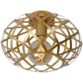 Stylowy Plafon druciany glamour Wolfram 30 złoty Lucide do kuchni, przedpokoju i sypialni.