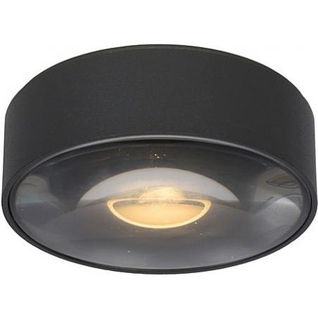 Rayen LED black round outdoor ceiling light Lucide