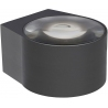 Rayen LED black round outdoor wall lamp Lucide