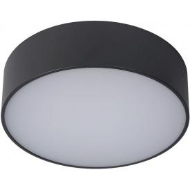 Plafon zewnętrzny okrągły Roxane 25 LED antracytowy Lucide na taras i przed drzwi.
