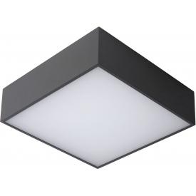 Plafon zewnętrzny kwadratowy Roxane 24 LED antracytowy Lucide na taras i przed drzwi.