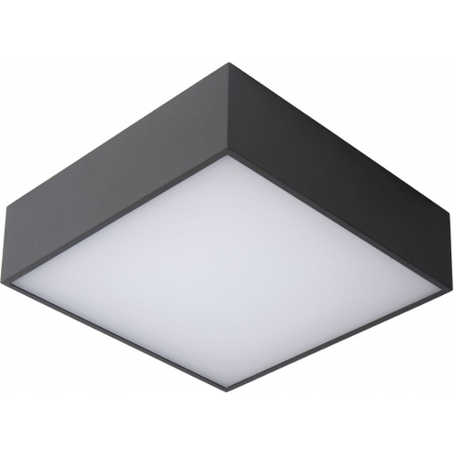 Roxane 24 LED anthracite square outdoor ceiling light Lucide