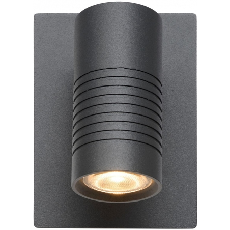 Bran LED anthracite outdoor wall lamp Lucide