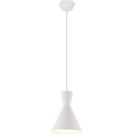 Stylowa Lampa wisząca loft Enzo 20 biała Trio do kuchni, jadalni i salonu.