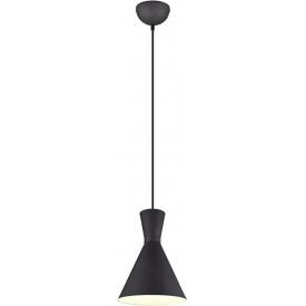 Stylowa Lampa wisząca loft Enzo 20 czarna Trio do kuchni, jadalni i salonu.