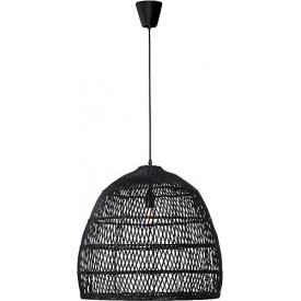 Stylowa Lampa wisząca rattanowa boho Tanic 53 czarna do kuchni, jadalni i salonu.