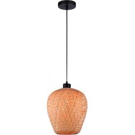 Stylowa Lampa rattanowa wisząca boho Tella 23 do kuchni, jadalni i salonu.