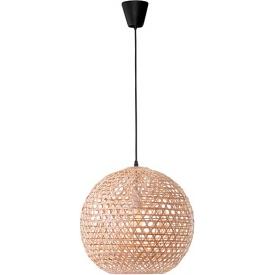 Stylowa Lampa rattanowa wisząca kula boho Ubud 40 do kuchni, jadalni i salonu.