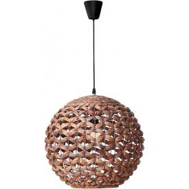 Stylowa Lampa rattanowa wisząca kula Denpasar 50 brązowa do kuchni, jadalni i salonu.